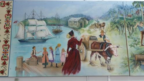 Panel 2 of mural