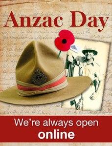 anzac day still open