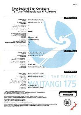 The treaty of waitangi commemorative certificate available waitangi 175 commemorative certificate example yelopaper Images