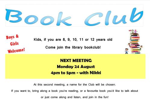 Kids Book Club Promotion August 2015