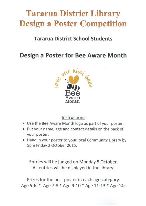 Bee Competition Poster
