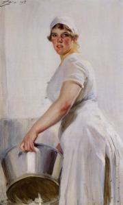 A Kitchen Maid 1919 / Anders Zorn