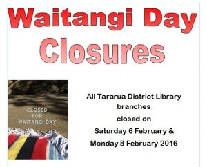 Closure Waitangi Day