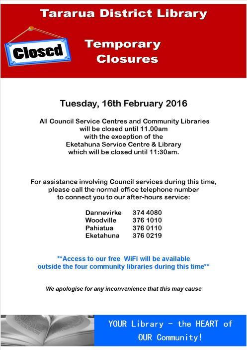 FB Temporary Closures