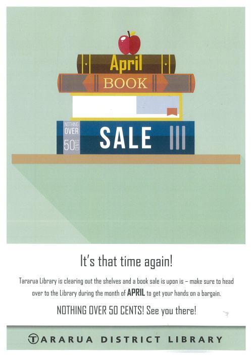 April book sale 2016