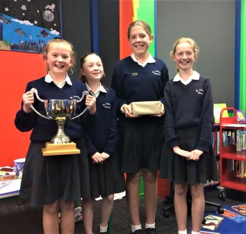 Photo - Tararua District Library - 2019 Children's Book Awards Quiz - Winners St Joseph's School